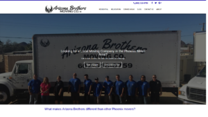 Arizona Brothers Moving Front Page Snapshot